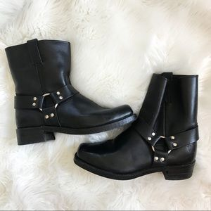 Frye Black Boots with metal detail size 11